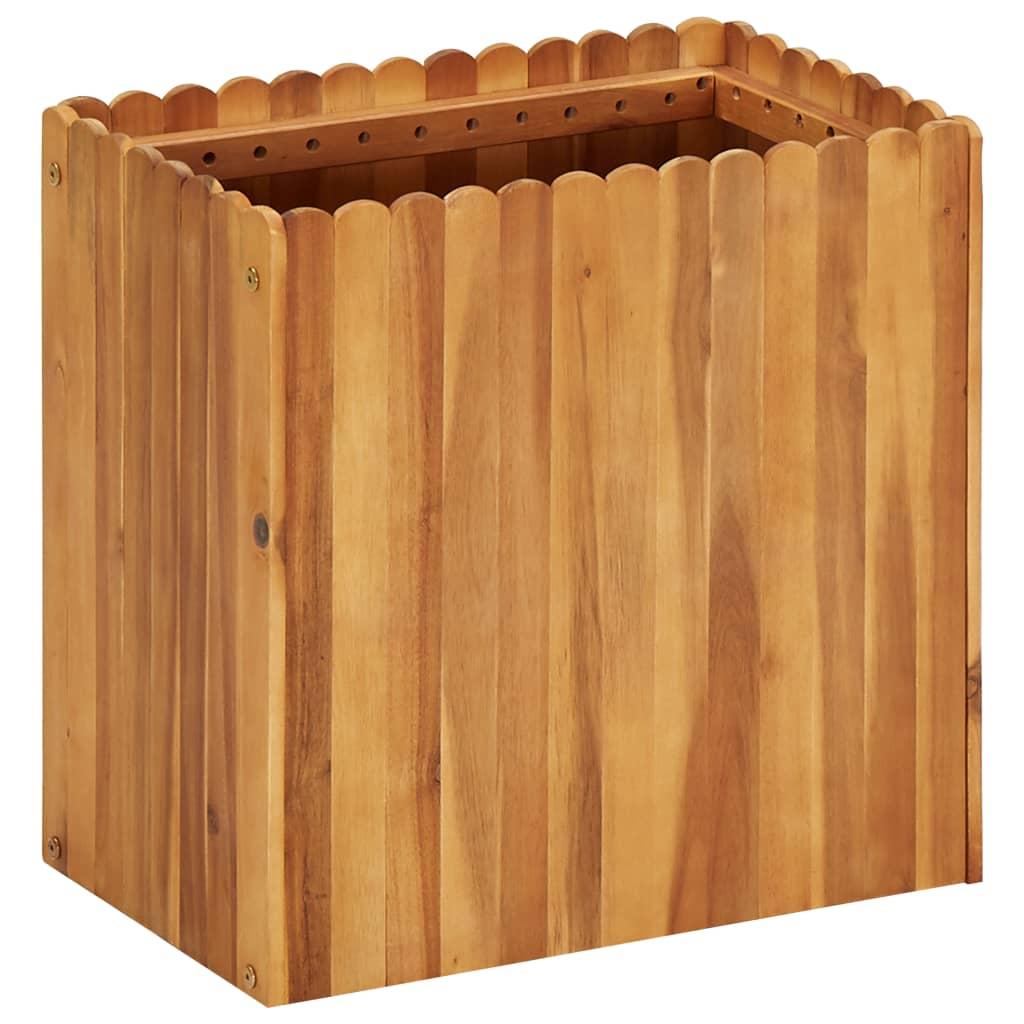 vidaXL Plantenbak 50x30x50 cm massief acaciahout