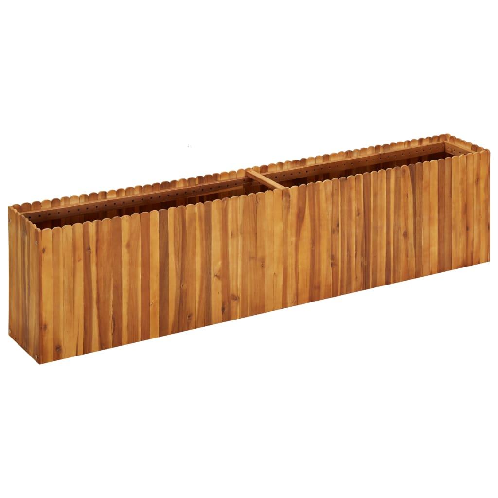 vidaXL Strat înălțat de grădină, 200x30x50 cm, lemn masiv de acacia poza vidaxl.ro