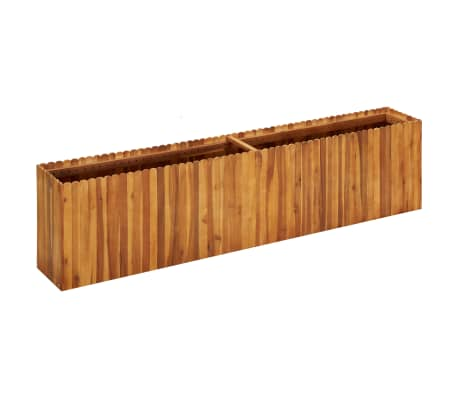 vidaXL Garden Raised Bed 200x30x50 cm Solid Acacia Wood