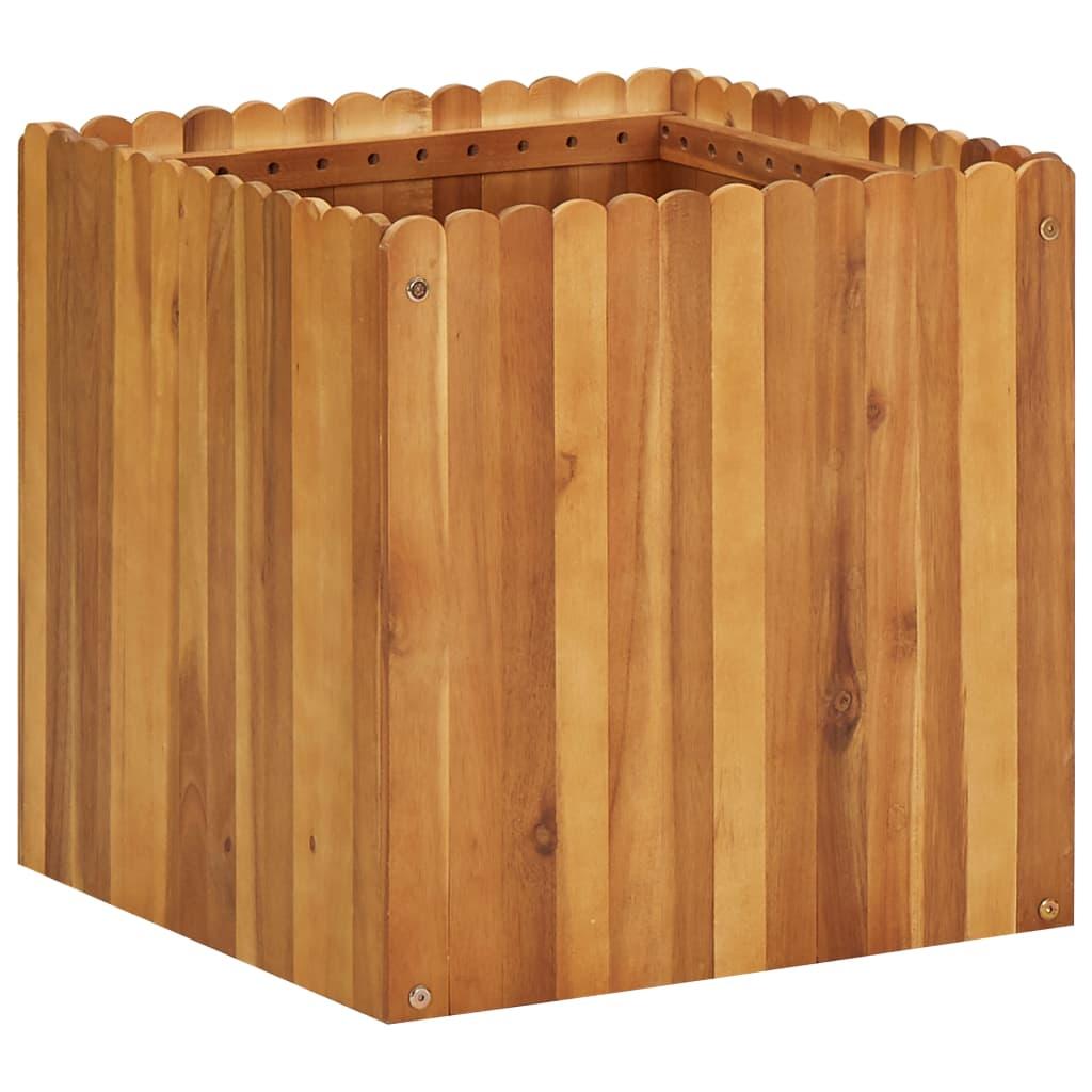 vidaXL Plantenbak 50x50x50 cm massief acaciahout