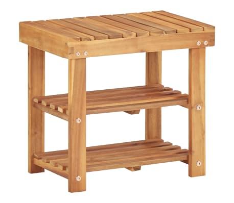 vidaXL Shoe Rack 50x32x45 cm Solid Acacia Wood