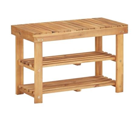 vidaXL Botník 70 x 32 x 46 cm masivní akáciové dřevo