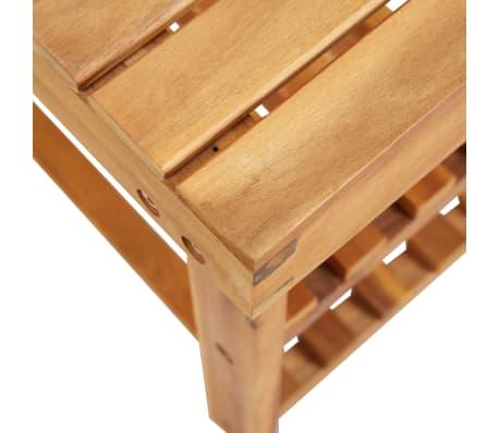 """vidaXL Shoe Rack 27.5""""x12.5""""x18.1"""" Solid Acacia Wood[4/5]"""
