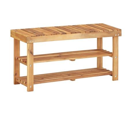 """vidaXL Shoe Rack 35.4""""x12.5""""x18.1"""" Solid Acacia Wood[1/5]"""