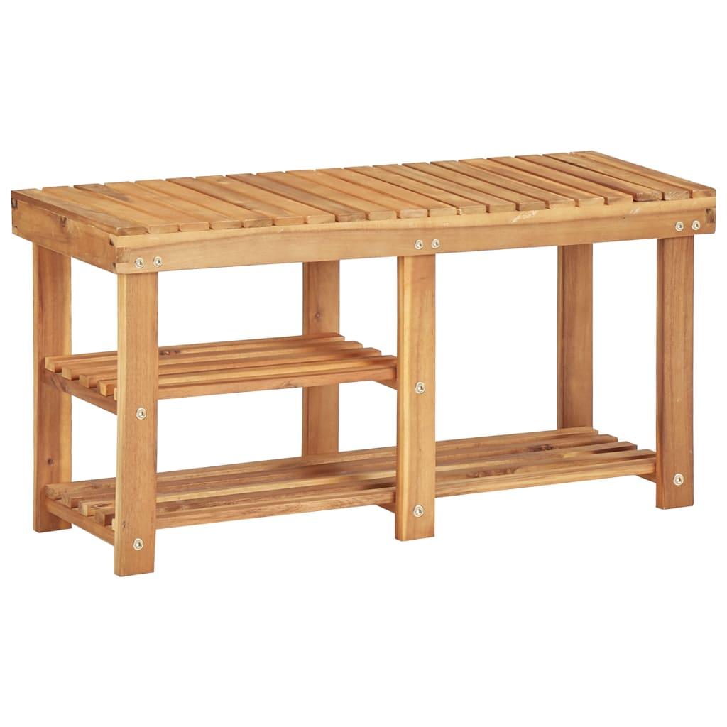 Botník 90 x 32 x 46 cm masivní akáciové dřevo