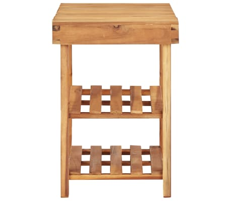 "vidaXL Shoe Rack 35.4""x12.5""x18.1"" Solid Acacia Wood[3/5]"