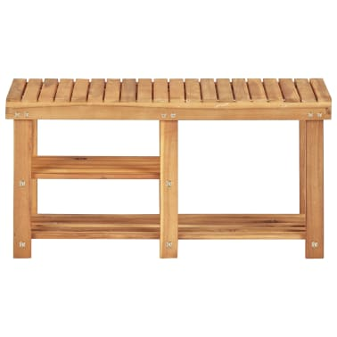"vidaXL Shoe Rack 35.4""x12.5""x18.1"" Solid Acacia Wood[2/5]"