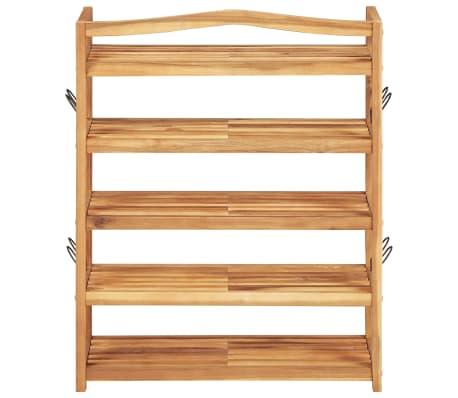 """vidaXL 5-Tier Shoe Rack 25.1""""x10.2""""x31.4"""" Solid Acacia Wood[3/7]"""