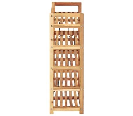 """vidaXL 5-Tier Shoe Rack 25.1""""x10.2""""x31.4"""" Solid Acacia Wood[4/7]"""