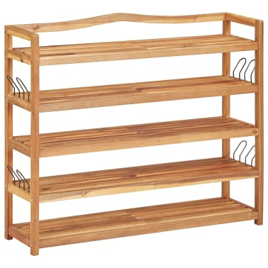 "vidaXL 5-Tier Shoe Rack 37.4""x10.2""x31.4"" Solid Acacia Wood[1/7]"