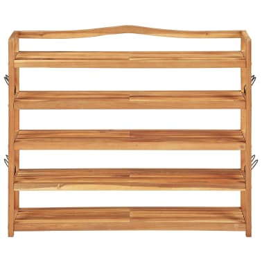 "vidaXL 5-Tier Shoe Rack 37.4""x10.2""x31.4"" Solid Acacia Wood[2/7]"