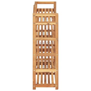 "vidaXL 5-Tier Shoe Rack 37.4""x10.2""x31.4"" Solid Acacia Wood[4/7]"