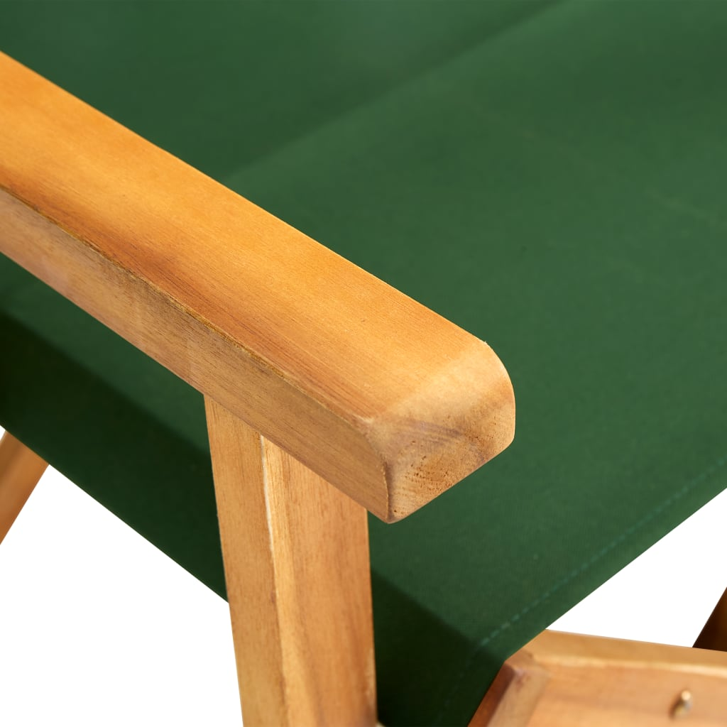 vidaXL Regisseursstoelen 2 st massief acaciahout groen