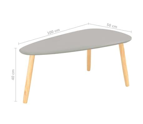 vidaXL Kavos staliukai, 2vnt., pilkos spalvos, pušies medienos masyvas[12/13]