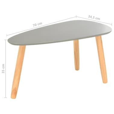 vidaXL Kavos staliukai, 2vnt., pilkos spalvos, pušies medienos masyvas[13/13]