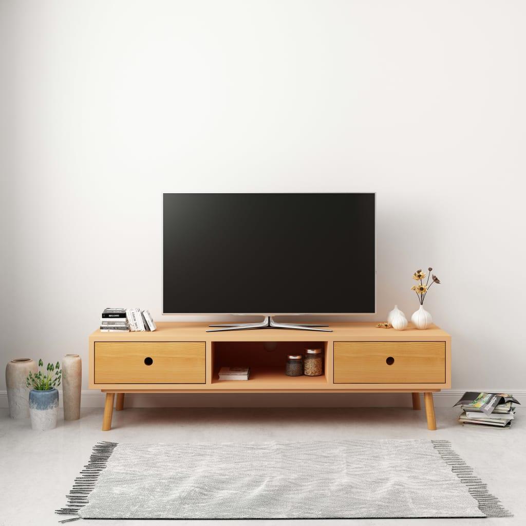vidaXL Comodă TV, 120 x 35 x 35 cm, lemn masiv de pin poza 2021 vidaXL