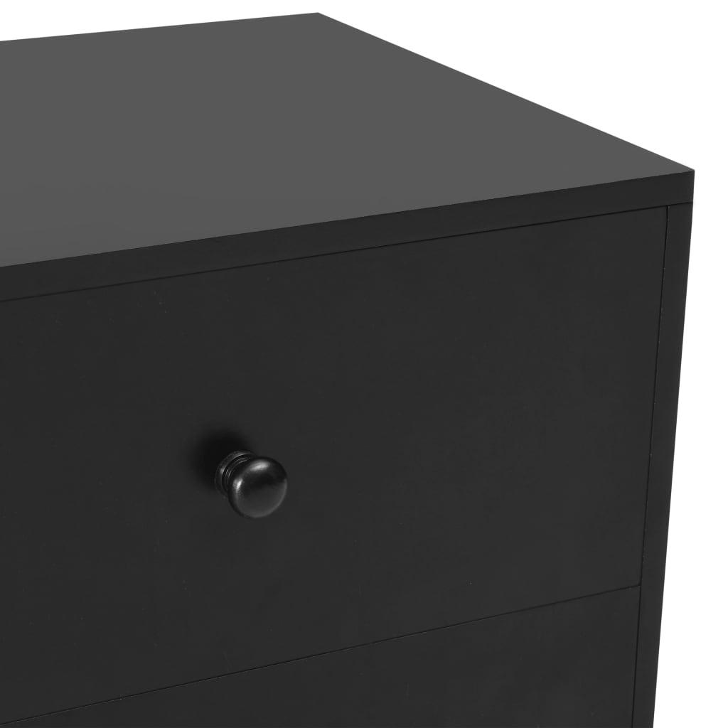 vidaXL Nachtkastjes 2 st 40x30x50 cm massief grenenhout zwart