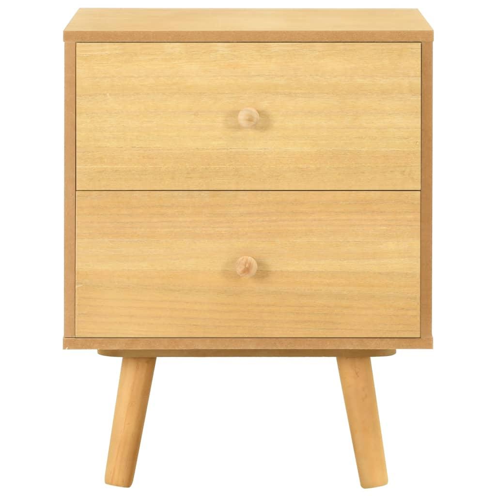vidaXL Nachtkastjes 2 st 40x30x50 cm massief grenenhout