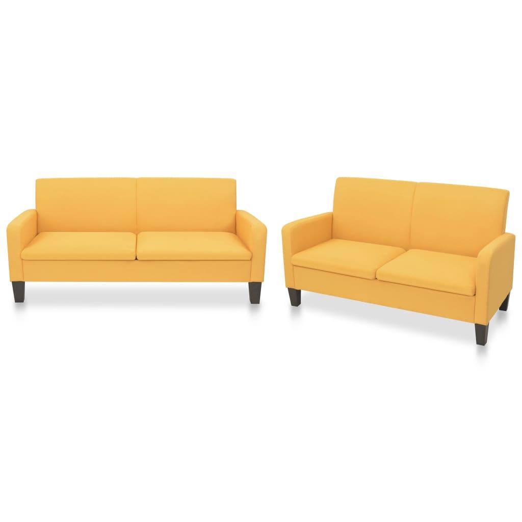 Canapé Jaune Tissu Design Confort
