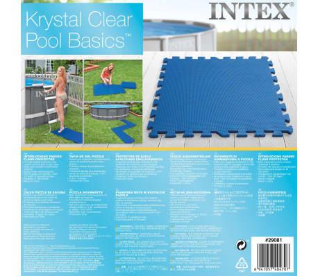 Intex Bâches de sol de piscine 8 pcs 50 x 50 cm Bleu[5/5]