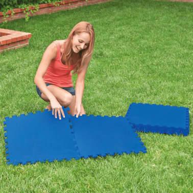 Intex Bâches de sol de piscine 8 pcs 50 x 50 cm Bleu[3/5]