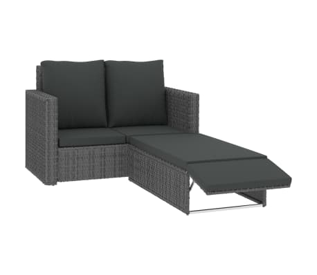 This rattan garden sofa and stool set will make a great addition to your outdoor living space. It will add a touch of modern elegance to your patio, balcony or garden with its understated, yet stylish design.