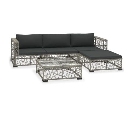 This rattan sofa set combines style and functionality, and will become the focal point of your garden or patio. The whole furniture set is designed to be used outdoors year-round.