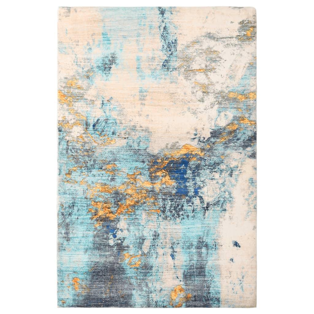vidaXL Covor cu imprimeu, multicolor, 140 x 200 cm, poliester imagine vidaxl.ro
