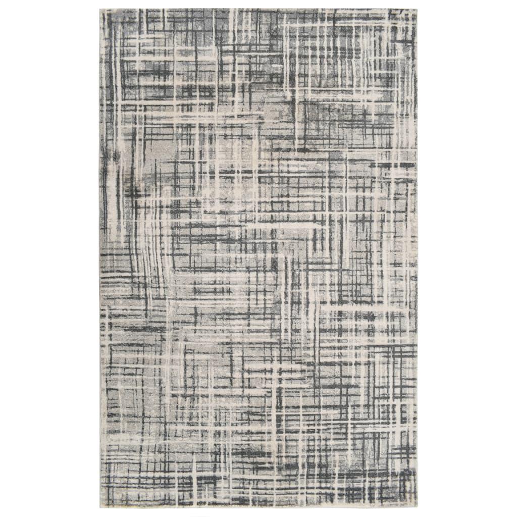 vidaXL Covor cu imprimeu, bej, 160 x 230 cm, poliester vidaxl.ro