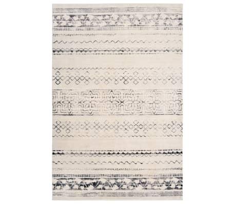 vidaXL Printed Rug Beige 80x150 cm Polyester