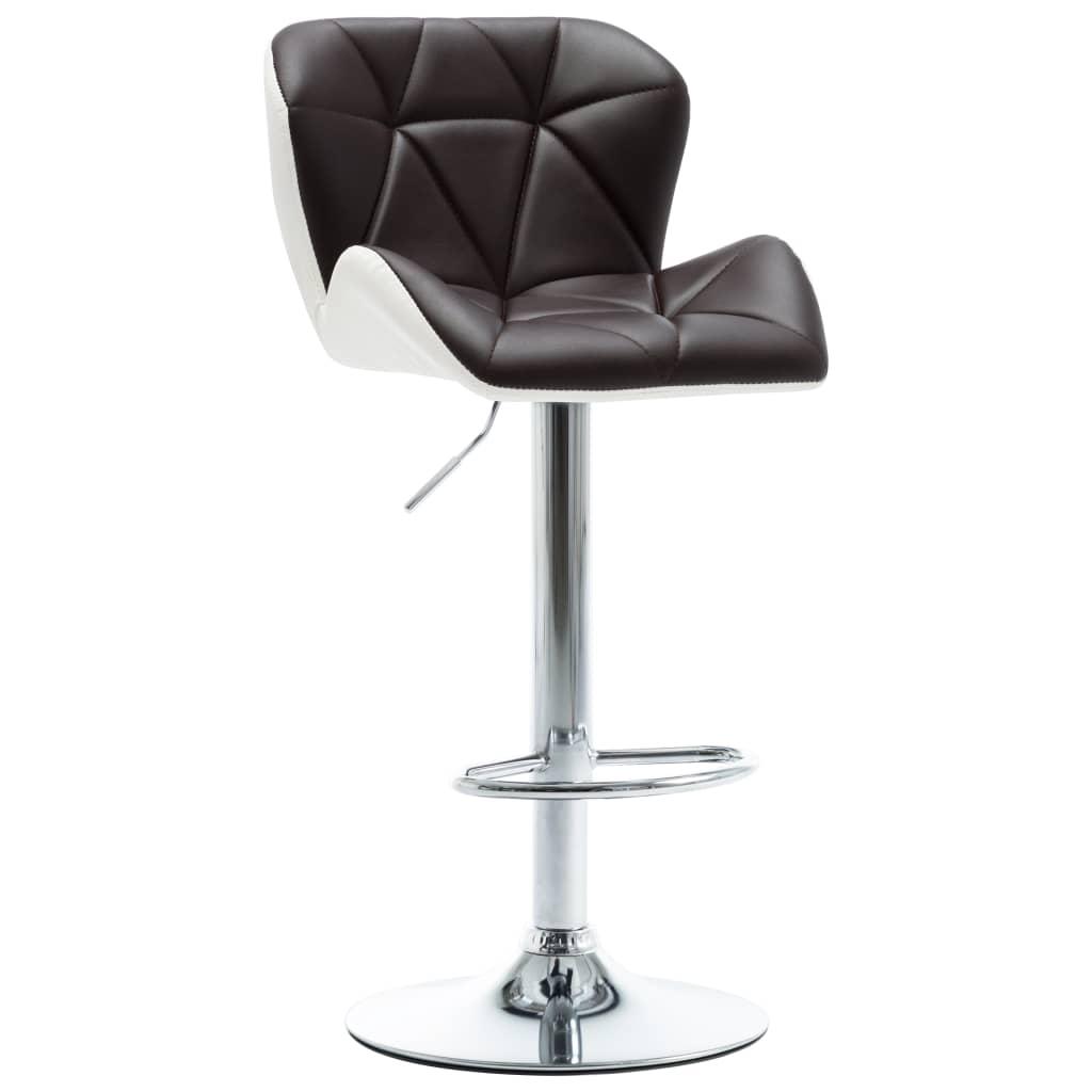 vidaXL Barová stolička hnědá umělá kůže