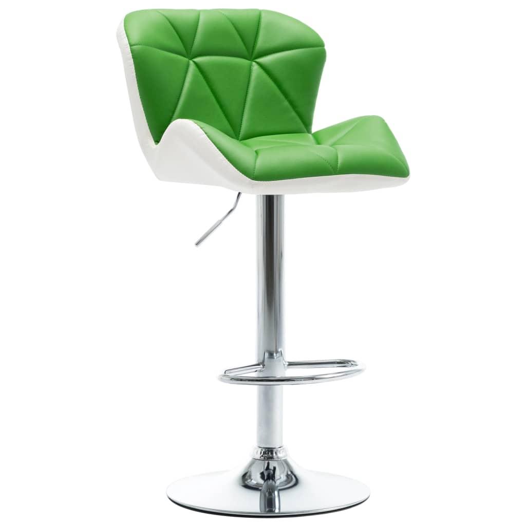 Barová stolička zelená umělá kůže