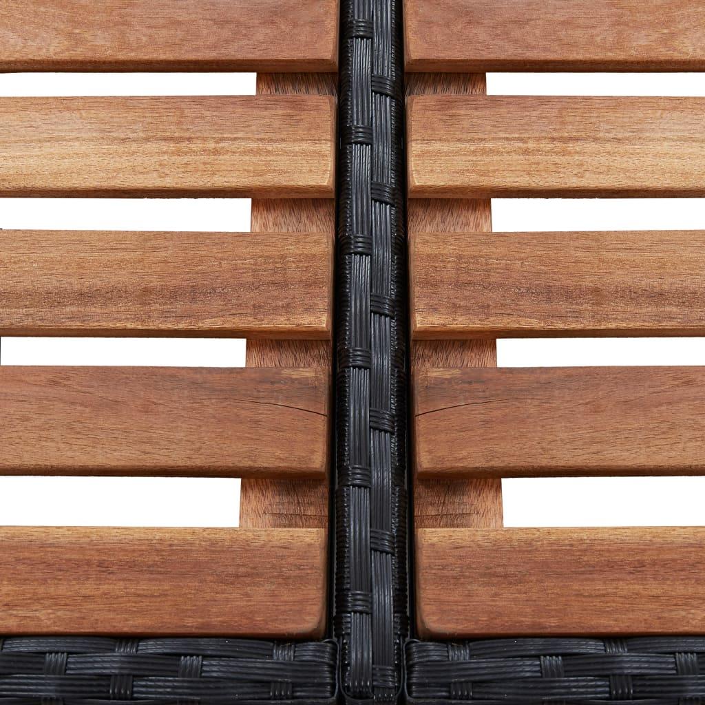 Kandilise mullivanni ümbris, must, 268 x 268 x 55 cm polürotang