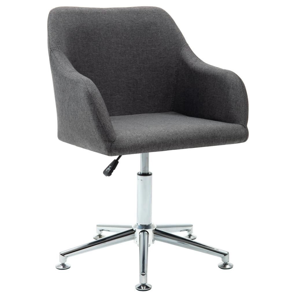 vidaXL Καρέκλα Γραφείου Περιστρεφόμενη Σκούρο Γκρι Υφασμάτινη