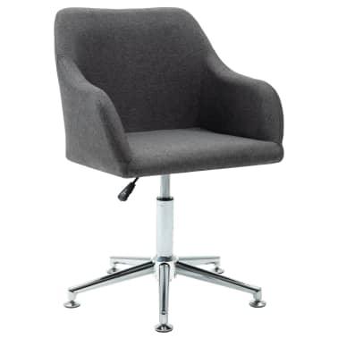vidaXL Obrotowe krzesło biurowe, ciemnoszare, tkanina[1/8]