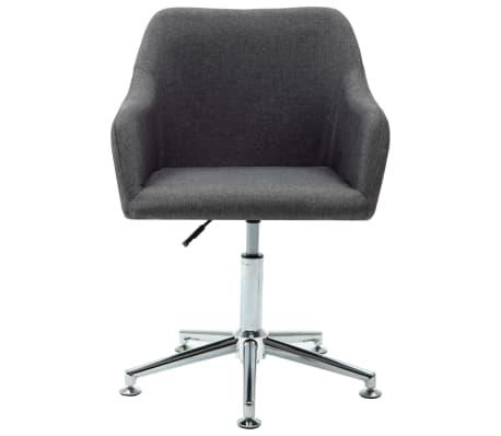 vidaXL Obrotowe krzesło biurowe, ciemnoszare, tkanina[2/8]