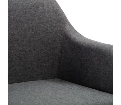 vidaXL Obrotowe krzesło biurowe, ciemnoszare, tkanina[6/8]