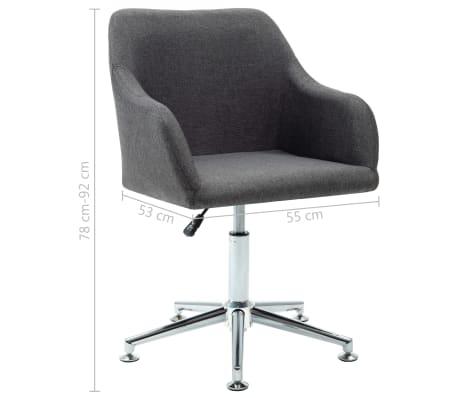vidaXL Obrotowe krzesło biurowe, ciemnoszare, tkanina[8/8]