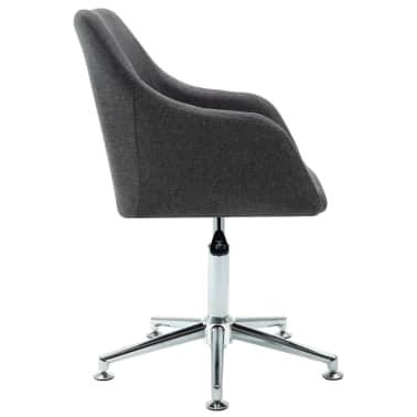 vidaXL Obrotowe krzesło biurowe, ciemnoszare, tkanina[3/8]