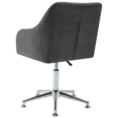 vidaXL Obrotowe krzesło biurowe, ciemnoszare, tkanina[4/8]