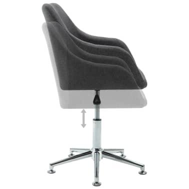 vidaXL Obrotowe krzesło biurowe, ciemnoszare, tkanina[5/8]