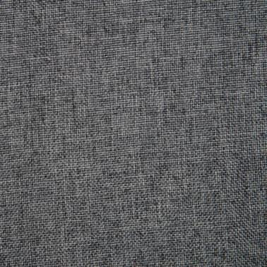 vidaXL Obrotowe krzesło biurowe, ciemnoszare, tkanina[7/8]