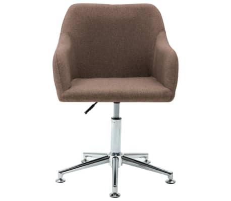 vidaXL Chaise pivotante de bureau Marron Tissu[2/8]