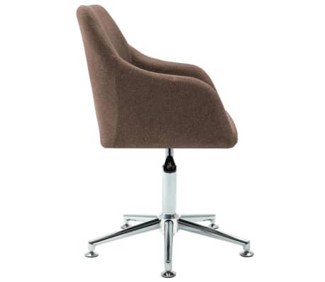 vidaXL Chaise pivotante de bureau Marron Tissu[3/8]