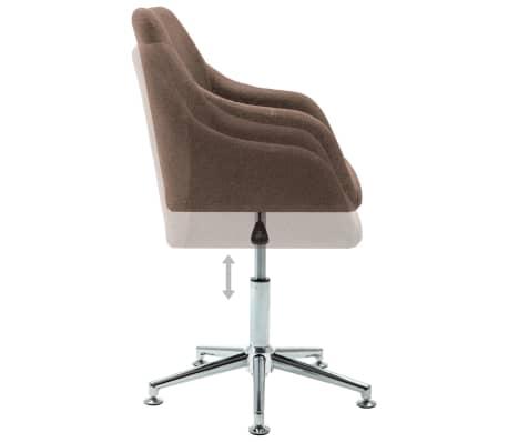 vidaXL Chaise pivotante de bureau Marron Tissu[5/8]