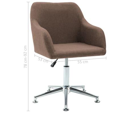 vidaXL Chaise pivotante de bureau Marron Tissu[8/8]