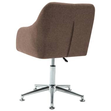 vidaXL Chaise pivotante de bureau Marron Tissu[4/8]