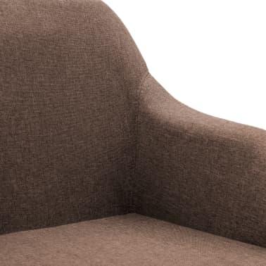 vidaXL Chaise pivotante de bureau Marron Tissu[6/8]