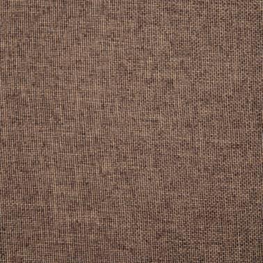 vidaXL Chaise pivotante de bureau Marron Tissu[7/8]