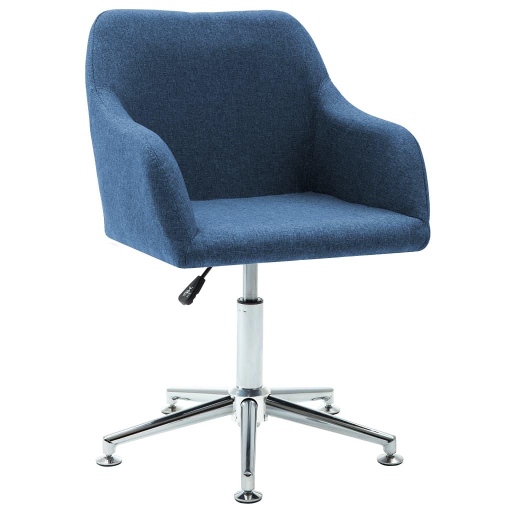 vidaXL Scaun de birou pivotant, albastru, material textil vidaxl.ro